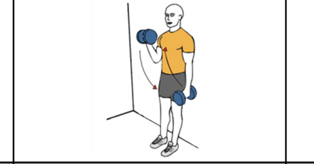 Curl biceps mancuerna